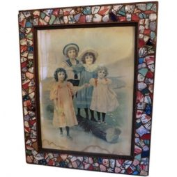 French 'Picassiette' Mosaic Framed Print from Provence