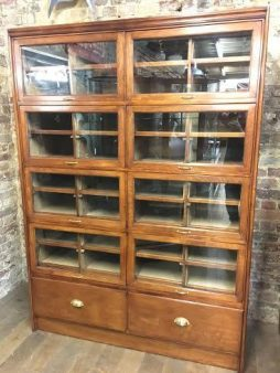 1920s Style Mahogany Lift-Up Doors Shirt Cabinet - POA