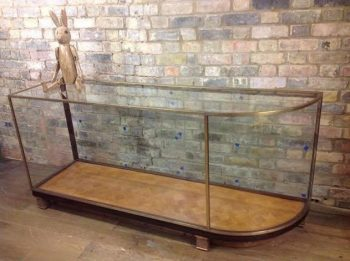 1920s Original Bronze Shop Display Cabinet - POA