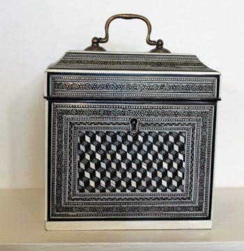 Antique Anglo Indian Tea Caddy Circa 1850
