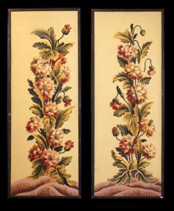 Decorative Pair of Antique 19th Century Panels