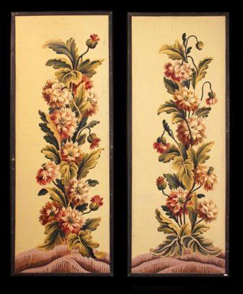 Decorative Pair of Antique 19th Century Panels