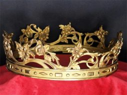 Antique 19th Century Bronze Crown