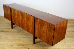 Rare IB Kofod Larsen Mid Twentieth Century Design Long Rosewood Sideboard Credenza