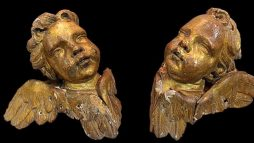 A Pair of Antique 19th Century Cherubs
