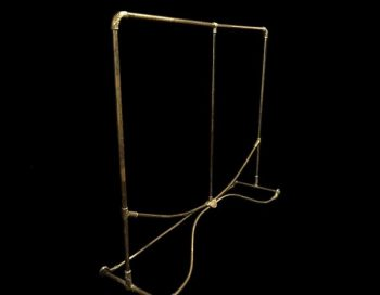 Double 19th Century Brass Antique Clothes Rail