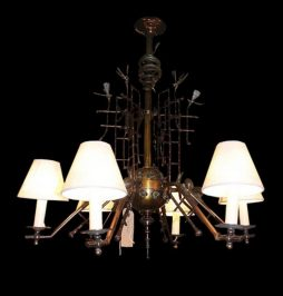 Exquisite Bronze Antique 19th Century Chandelier
