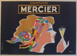 French 1930s Mercier Champagne Advertising Poster By Artist Bellenger