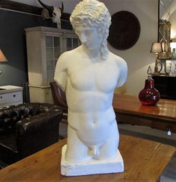 Mid-Century Plaster Sculpture of Adonis