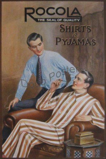 1930s Rocola Shirts Pyjamas Poster
