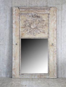 Large Antique 19th Century French Trumeau Mirror