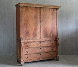 Antique 19th Century Dutch Linen Press