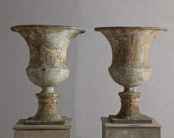 A Pair of late Antique 18th early 19th Century English Urns