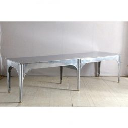 1940s American Polished Steel Table by Alvo
