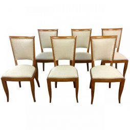 Set of Six Art Deco French Dining Chairs