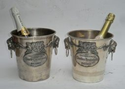Pair of Vintage Champagne Ice Buckets-Charles Heidsieck