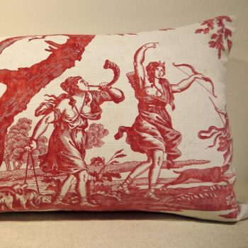 Antique 18th Century French Toile de Nantes Cushion