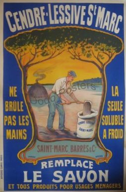 French Cendre Lessive St Marc Advertising Poster
