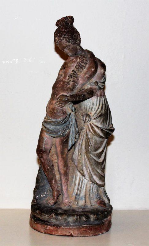 Antique Italian Terracotta Figure Circa 1780 Interior
