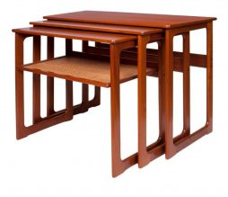 Mid Twentieth Century Design Teak Nesting Tables