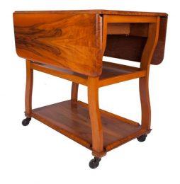 Art Deco Drop Leaf Table Trolley