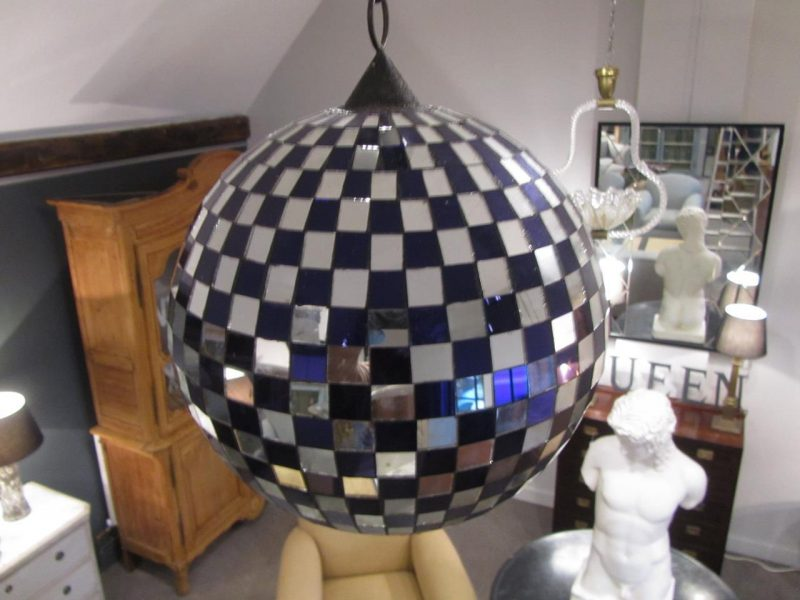 Antique Mirrored Ballroom Glitter Ball With Motor