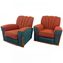 Pair of British Art Deco Armchairs