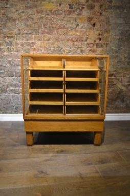 Small Antique Oak 1920s Haberdashery Drapers Shop Counter - POA