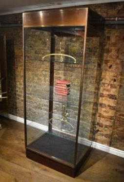 Antique 1930s Brass and Glass Tower Display Unit - POA