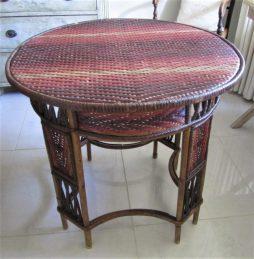 Antique Rattan Garden Table