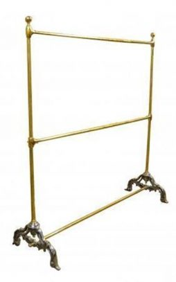 Bespoke Tall Brass Shop Hanging Rail -POA