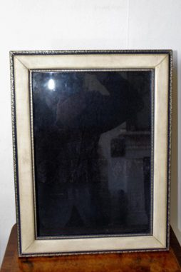 Very Large Vellum and Leather Photo Frame