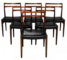 Set of Six Mid Century Dining Chairs by Niels Otto Moller for J.L Mollers Mobelfabrik