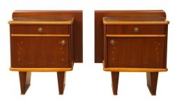 Pair of Italian Mid Century Bedside Cabinets by Mario Bellini