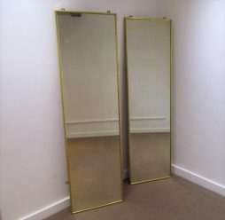 Mid-Century Pair of Gilt Wood Pier Mirrors
