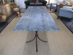 Antique Large Zinc Dining Garden Table