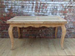 Antique 19th Century Bleached Oak Draw Leaf Dining Table