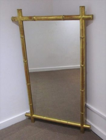 Antique Faux Bamboo Giltwood Mirror