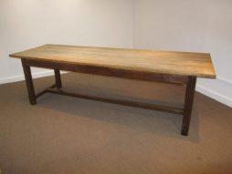 Antique Large Scrub Top Farmhouse Table