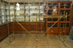 Rare Antique 1930s Brass Double Rail Hanging System