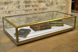 Antique Bronze Jeweler's Cabinet Counter Top Display