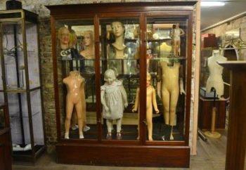Antique Victorian Mahogany Shop Display Cabinet