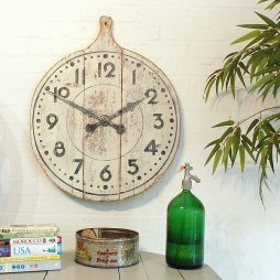 213-Cream Bread Board Clock