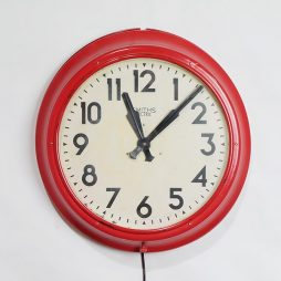 210-Red Smiths Wall Clock