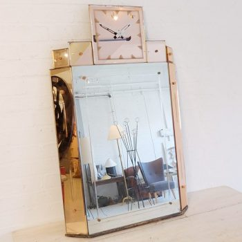 002-Art Deco Mirror Clock