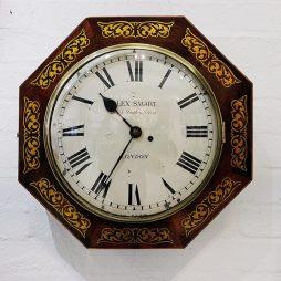 164-English Fusee Wall Clock
