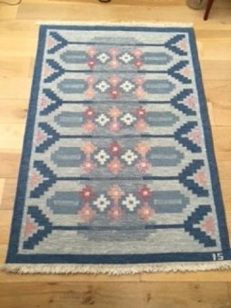 1950's Swedish Flat Weave Rug by Ingegerd Silow
