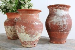 Grouping of Three Antique French 19th Century Terracotta Vases