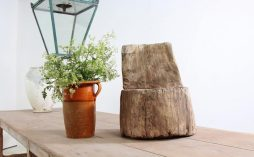 Early Swedish Primitive 18th Century Dug-Out Stool