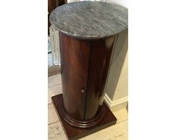 Antique French Mahogany Marble Top Pedestal